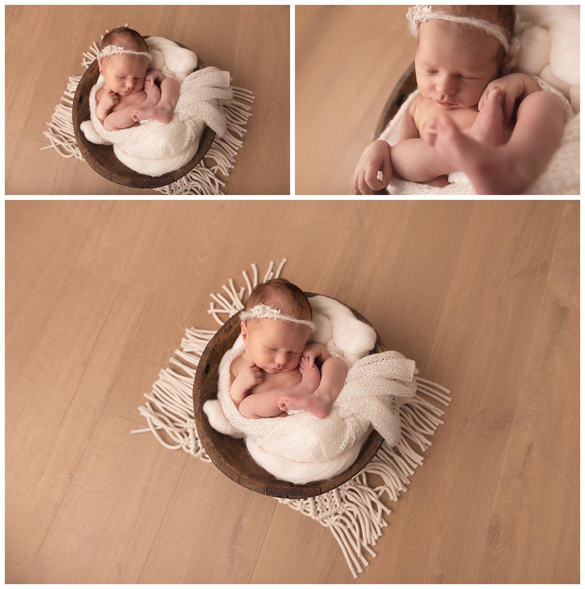 photo nouveau-né dans cocon
