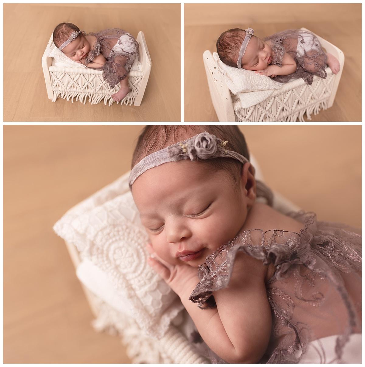 photo bébé dans petit lit