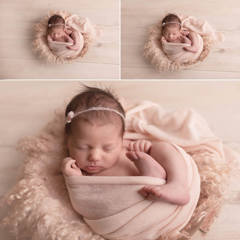 photo bébé dans cocon