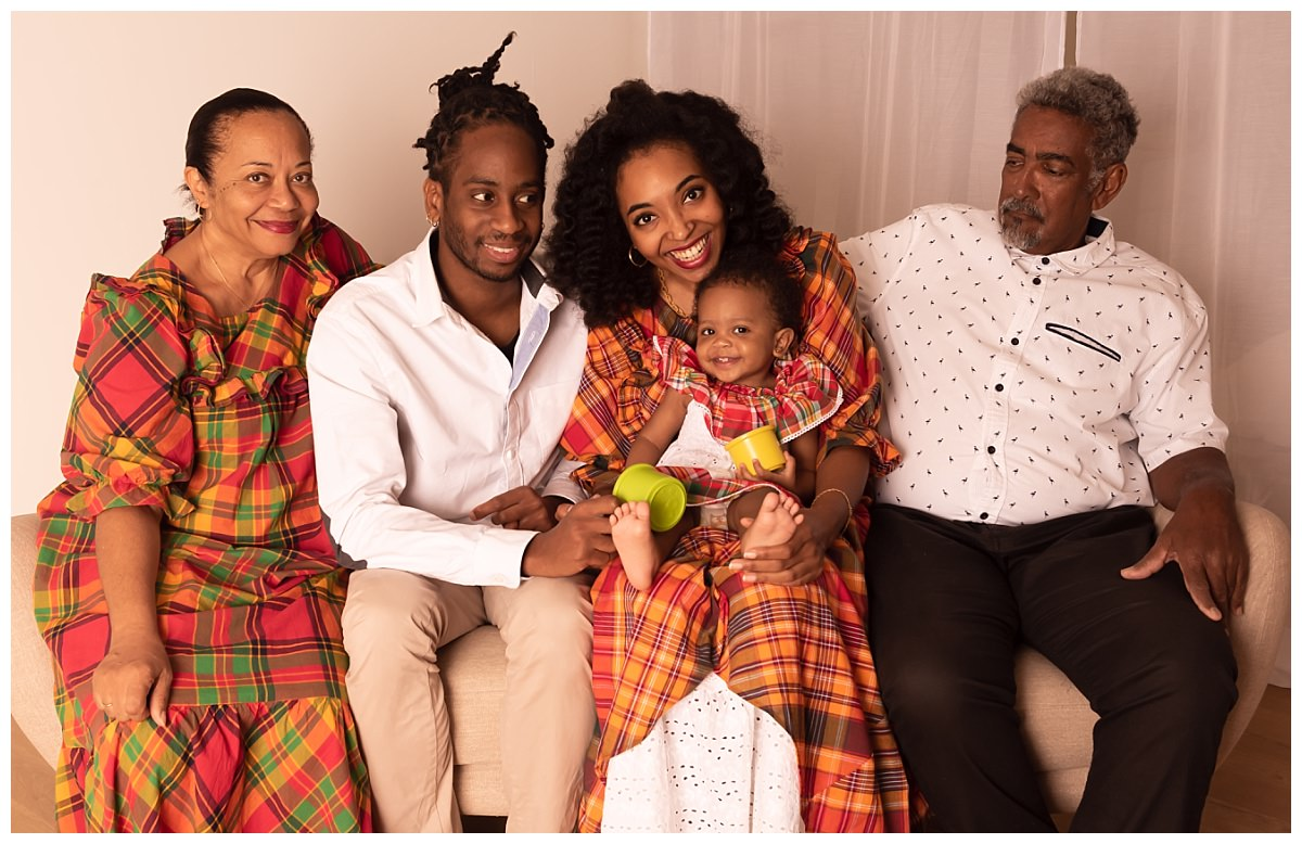 photo famille tenue traditionnelle