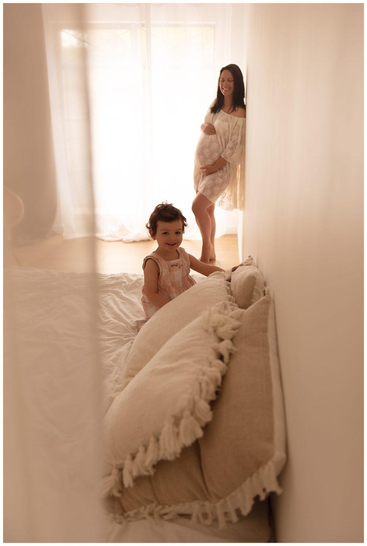 séance photo grossesse mère fille