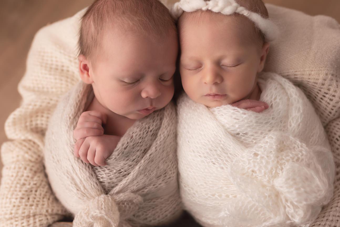 séance photo naissance jumeaux